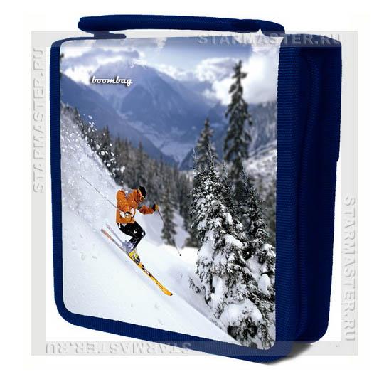 Портмоне (сумка) BoomBag на 32 CD/DVD диска 3D Зимний экстрим, на...