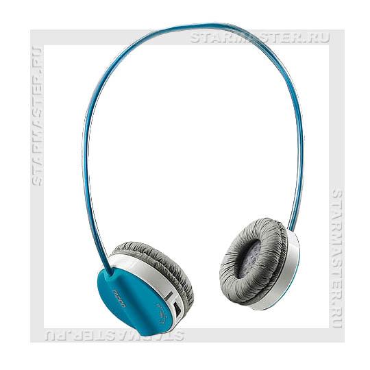 Форма: полноразмерные беспроводные наушники с микрофоном Тип разъема: USB Диаметр динамиков: 50мм Цвет: Blue (синий)...